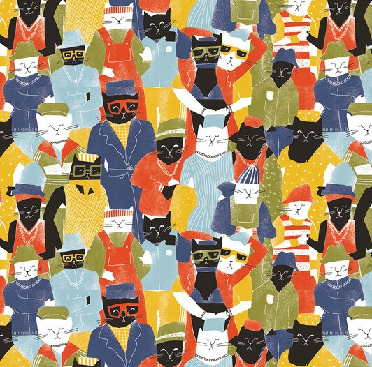 Cool Cats Wrap Paper Sheet (Pick Up Only)