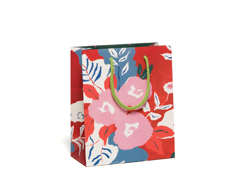 Ruby Red Flowers Gift Bag