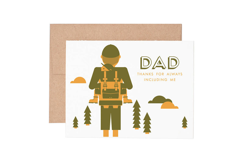 Hiking Dad Father's Day Card