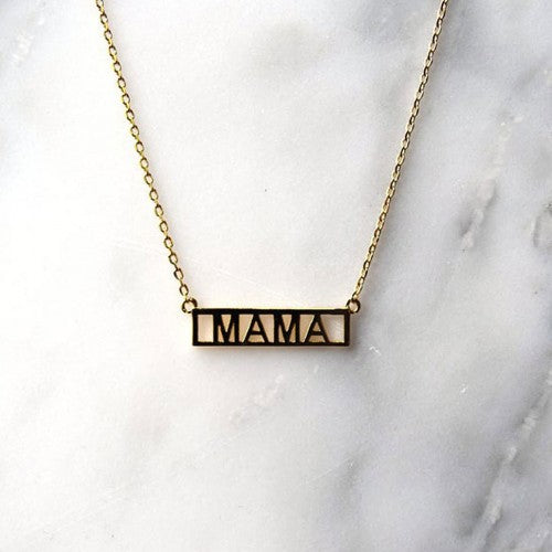 MAMA gold plated necklace