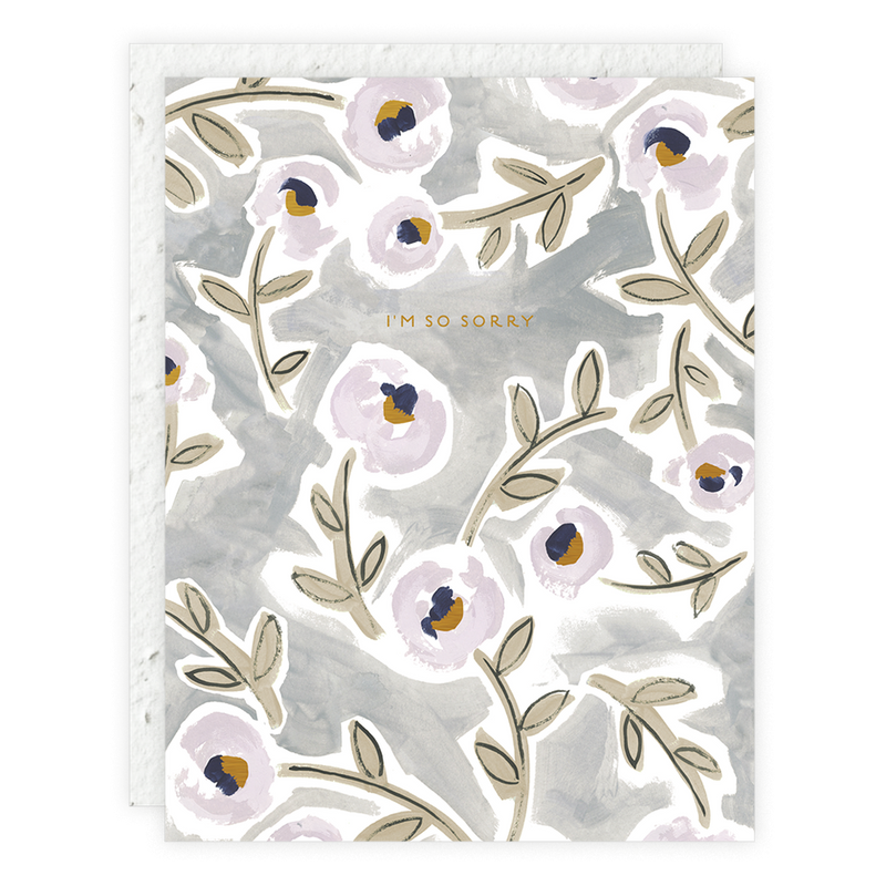 Peony Lavender Sorry Card