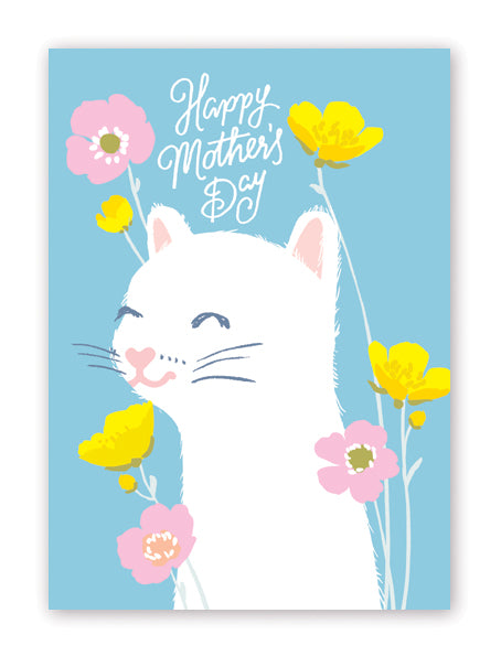 Kitty in Meadow Mother's Day Card