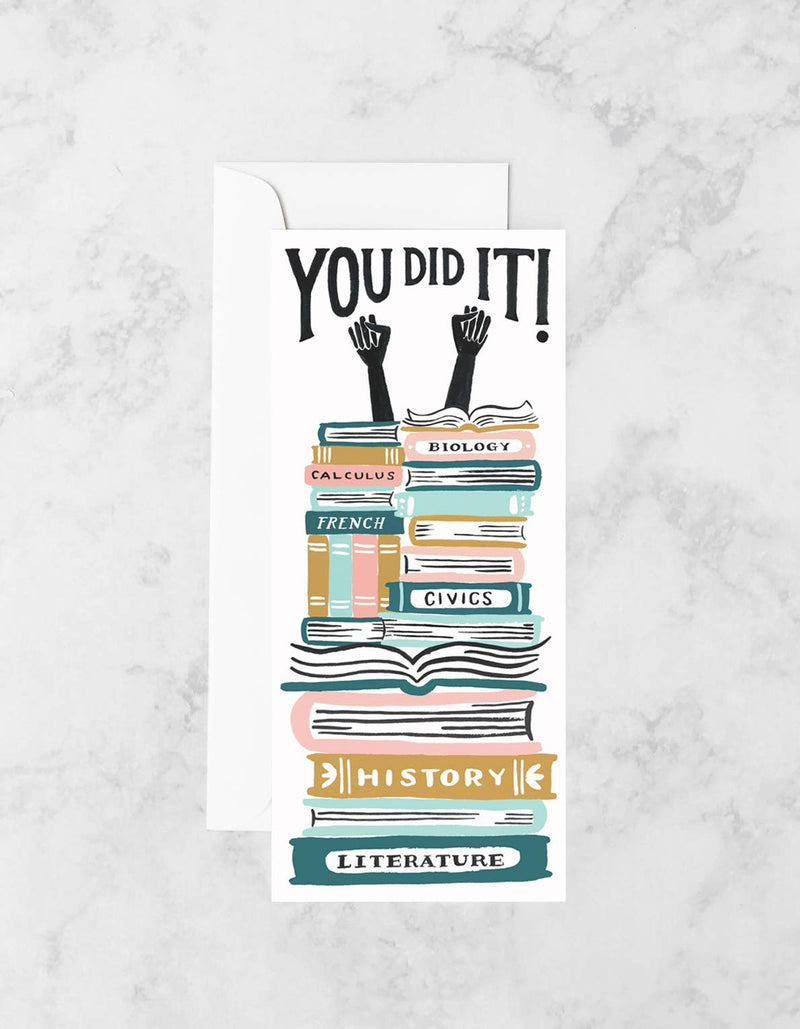Book Stacks Graduation Card