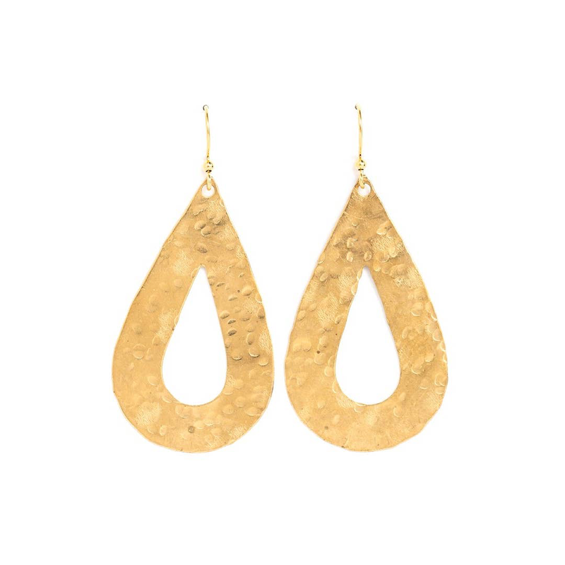 Large Open Teardrop Earrings