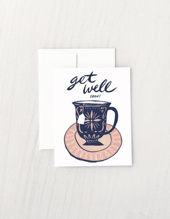 Tea Cup Get Well Card