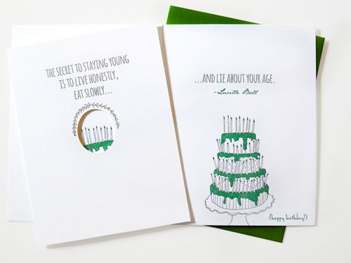 Staying Young Birthday Card