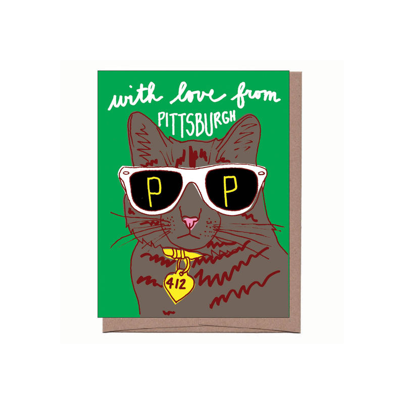 With Love From Pittsburgh Card (Cool Cat)