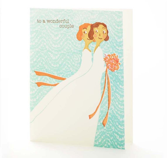 Brides Wonderful Couple Card