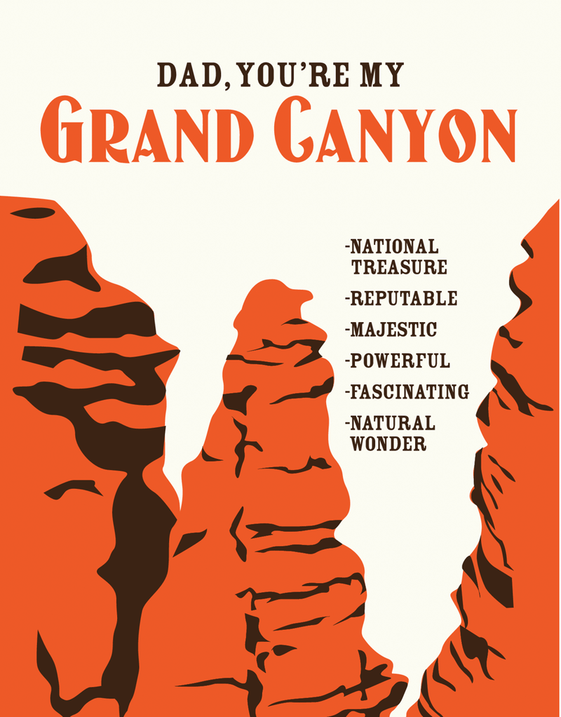 Grand Canyon Father's Day Card