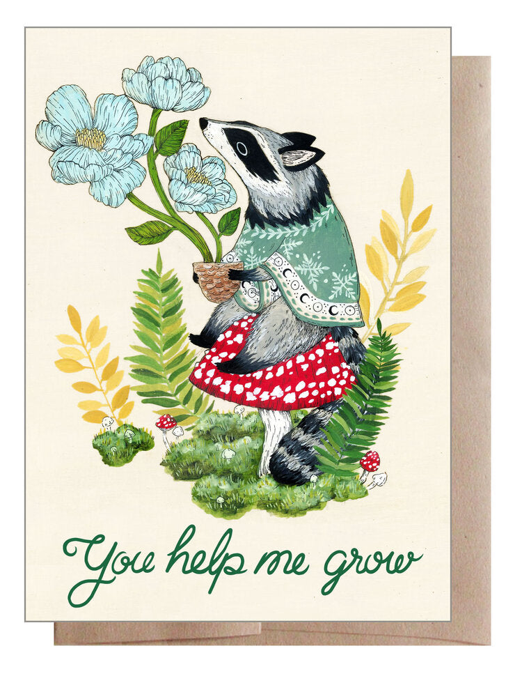You Help Me Grow Card