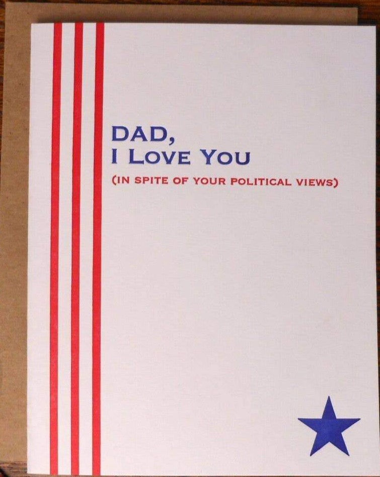 Political Views Father's Day Card