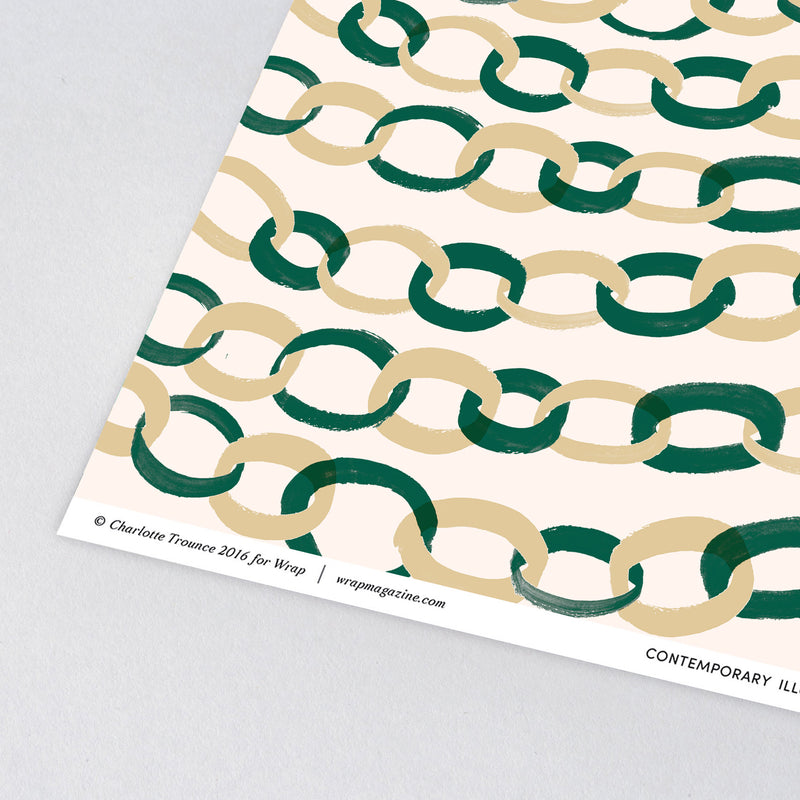 Paper Chains Wrap Paper Sheet (Pick Up Only)
