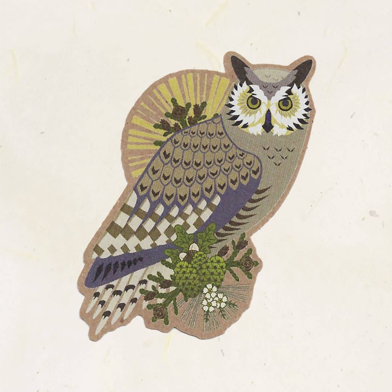 Great Horned Owl Kraft Sticker