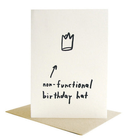 Non-Functional Birthday Hat Card