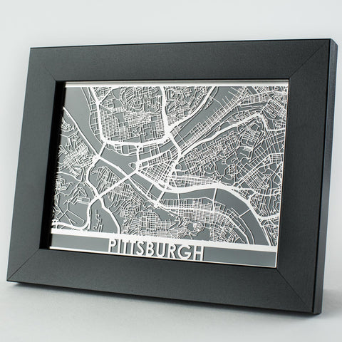 Stainless Steel Pittsburgh Map