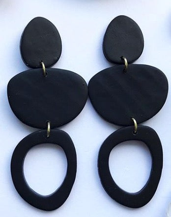 Twiggy Midnight Dangle Earrings