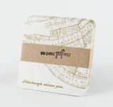 Pittsburgh Misses You/Vintage Map Coasters Set of 10