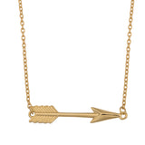 10K Yellow Gold Arrow Pendant Necklace, 18""