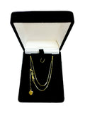"10k Yellow Gold Adjustable Box Link Chain Necklace, 0.7mm, 22"" - JewelryAffairs  - 4"