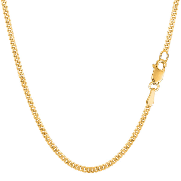 10k Yellow Gold Gourmette Chain Necklace, 2.0mm