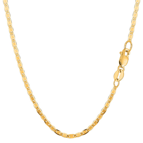 10k Yellow Gold Mariner Link Chain Necklace, 2.3mm - JewelryAffairs  - 1