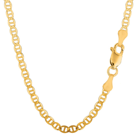 10k Yellow Gold Mariner Link Chain Necklace, 4.5mm - JewelryAffairs  - 1