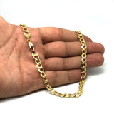 10k Yellow Gold Curb Hollow Chain Necklace, 6.1mm