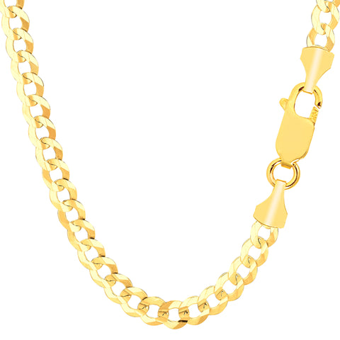 10k Yellow Gold Comfort Curb Chain Necklace, 5.7mm