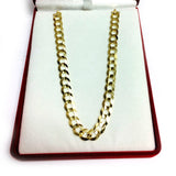 10k Yellow Gold Comfort Curb Chain Necklace, 7.0mm
