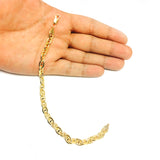 14K Yellow Gold Filled Mariner Chain Bracelet, 6.6mm, 8.5""