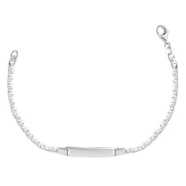 Mariner Chain Baby Id Bracelet In Sterling Silver - 6 Inches - JewelryAffairs  - 1