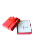Sideways Cross With Cz Necklace In Rhodium Plated Sterling Silver - 18 Inches - JewelryAffairs  - 5