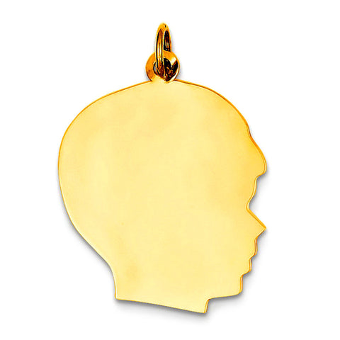14K Yellow Gold Boy's Head Charm (18 x 28mm) - JewelryAffairs  - 1