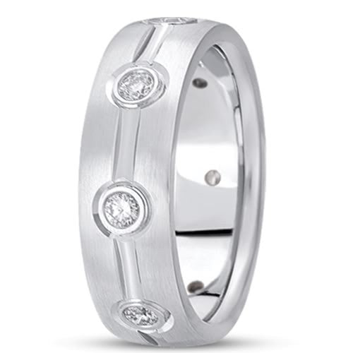 0.40ctw Diamond 14K Gold  Wedding Band (7mm) - (F - G Color, SI2 Clarity) - JewelryAffairs