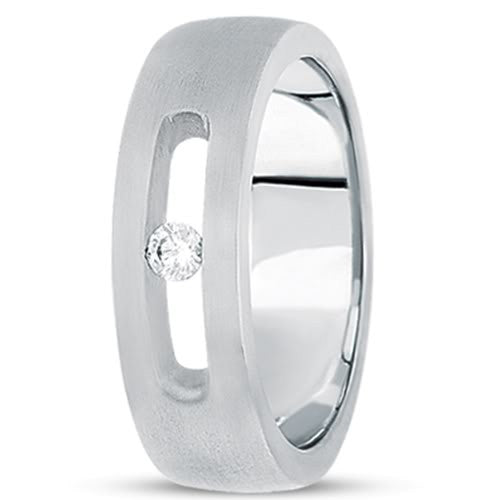 0.10ctw Diamond 14K Gold  Wedding Band (7mm) - (F - G Color, SI2 Clarity) - JewelryAffairs