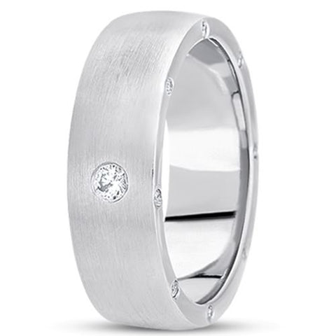 0.34ctw Diamond 14K Gold  Wedding Band (7mm) - (F - G Color, SI2 Clarity) - JewelryAffairs