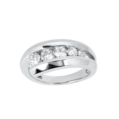 14K Gold Bezel Set Diamond Journey Ring (0.31 ctw)