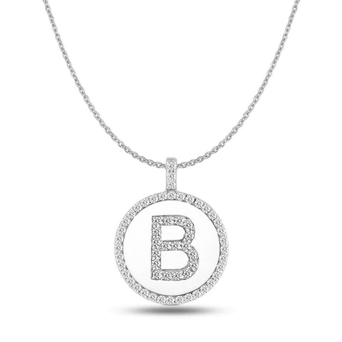 shop initial prices miadora gold womens slash size tdw necklace pendant inch b white on diamond