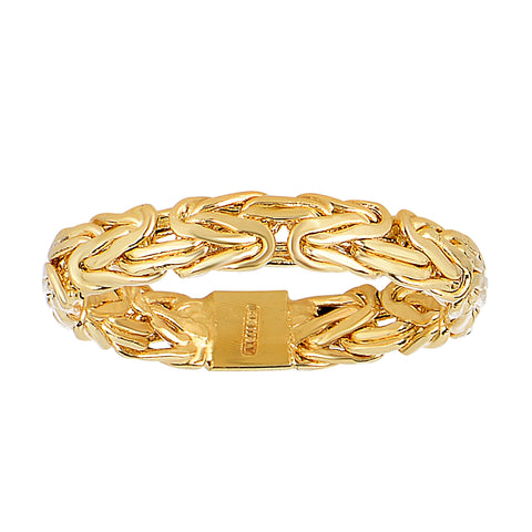 14Kt Yellow Gold Byzantine Style Band - 4mm Wide - JewelryAffairs  - 2