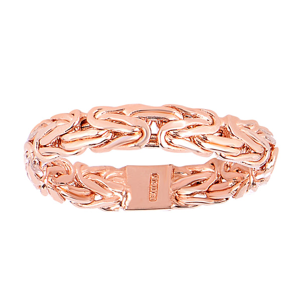 14Kt Rose Gold Byzantine Style Band - 4mm Wide - JewelryAffairs  - 1