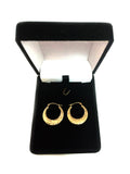 10k Yellow Gold Hammered Round Hoop Earrings, Diameter 20mm - JewelryAffairs  - 4