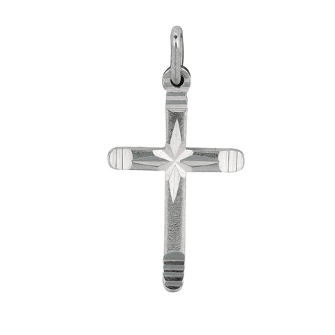 Sterling Silver Cross Pendant, 15 x 27 mm