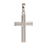 Sterling Silver Cross Pendant, 16 x 35 mm
