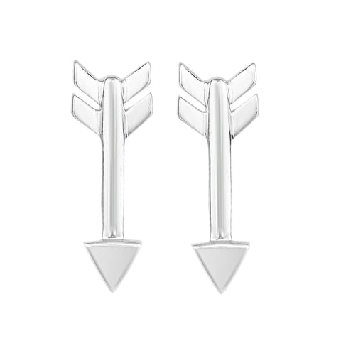 Sterling Silver Arrow Style Stud Earrings