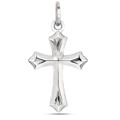 Sterling Silver Cross Pendant, 20 x 35 mm