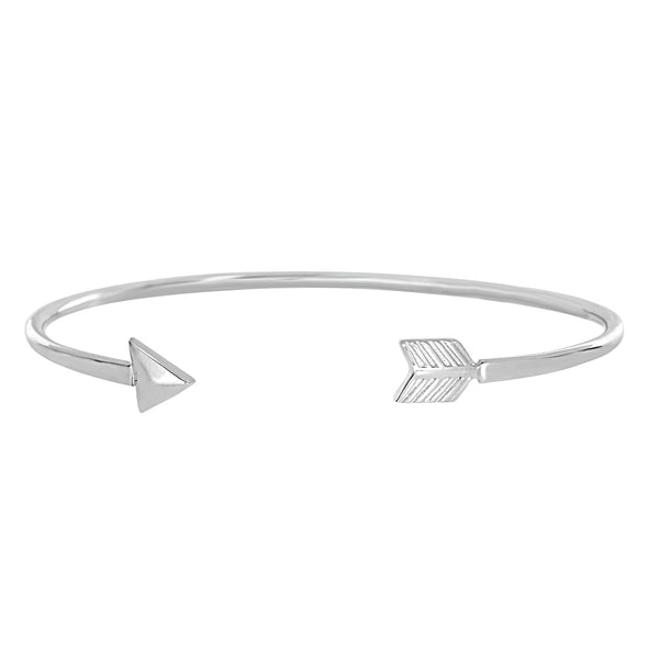 Sterling Silver  Sideways Arrow Bracelet Cuff
