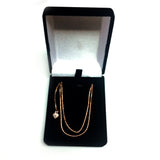 "14k Rose Gold Adjustable Popcorn Link Chain Necklace, 1.3mm, 22"" - JewelryAffairs  - 4"