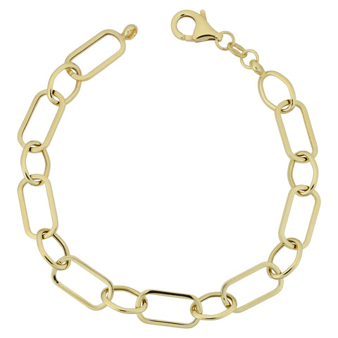 14k Yellow Gold Multi Link Womens Bracelet, 7.5""