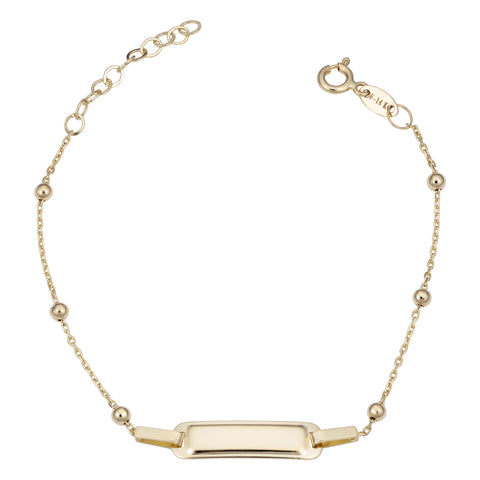 14k Yellow Gold ID Adjustable Baby Bracelet, 6.5""