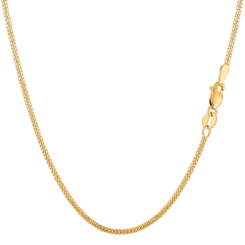 14k Yellow Gold Gourmette Chain Necklace, 1.5mm - JewelryAffairs  - 1